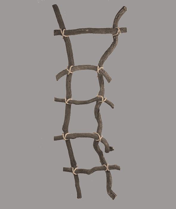 Scala legno c/corde h.155 cm
