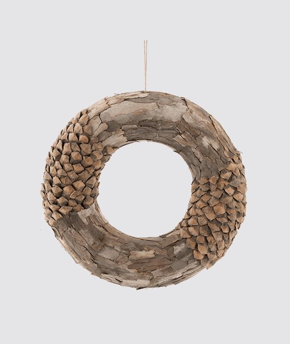 Corona corteccia/pigne 45 cm
