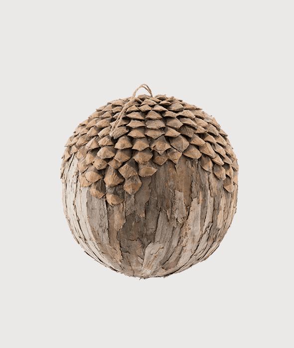 Grosse Kugel Rinde/Tannenzapfen 30 cm