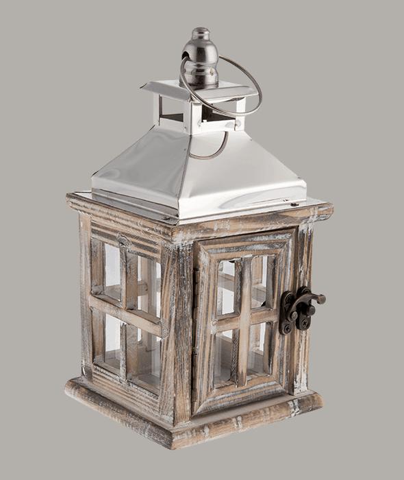 Lanterna legno 10x10x20 cm