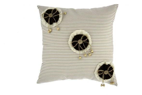 Cuscino tessuto c/coccarde 40×40 cm