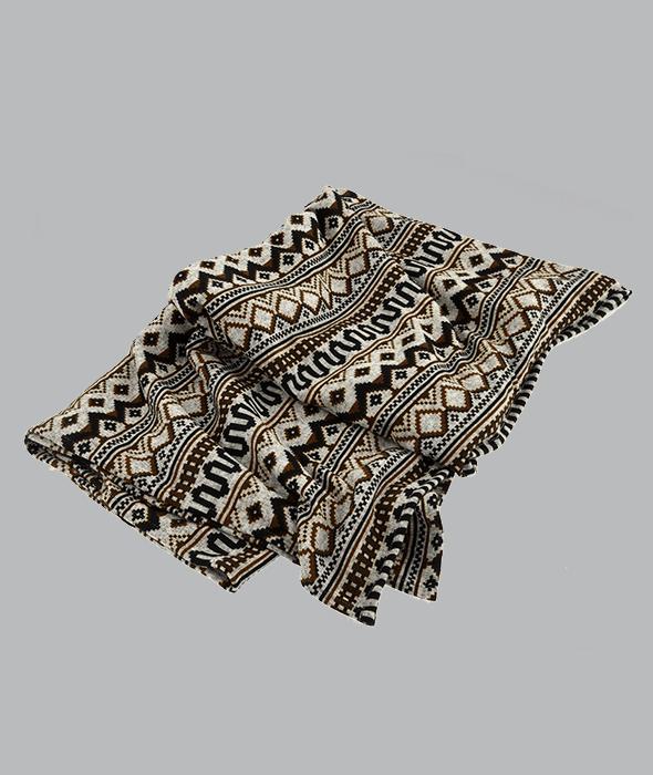 Plaid tessuto etnico marrone 140×160 cm
