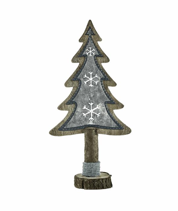 Pino legno e metallo 40 cm