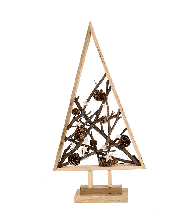 Sagoma albero legno c/ pigne 31×58 cm