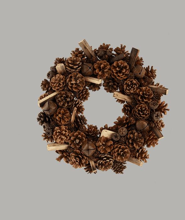 Corona pigne e legnetti 34×8 cm
