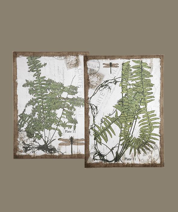 Tela decoro piante 2 assortimenti 50x3x70 cm