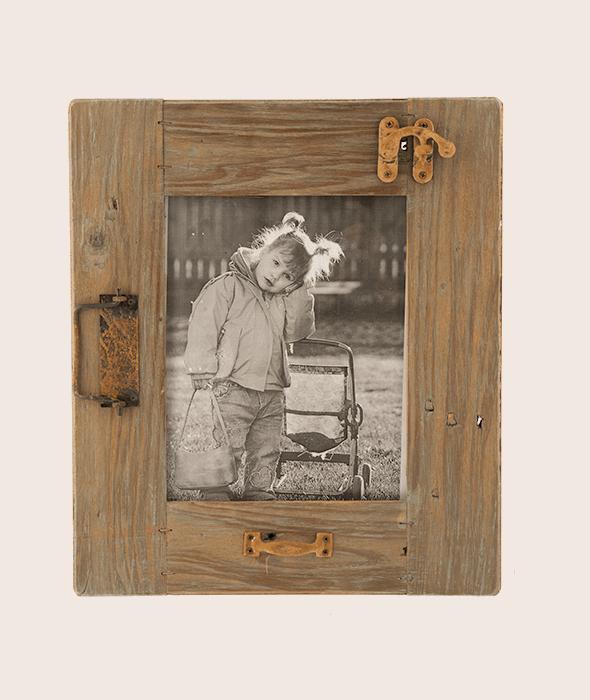 Portafoto appendere legno vintage 42×36 cm