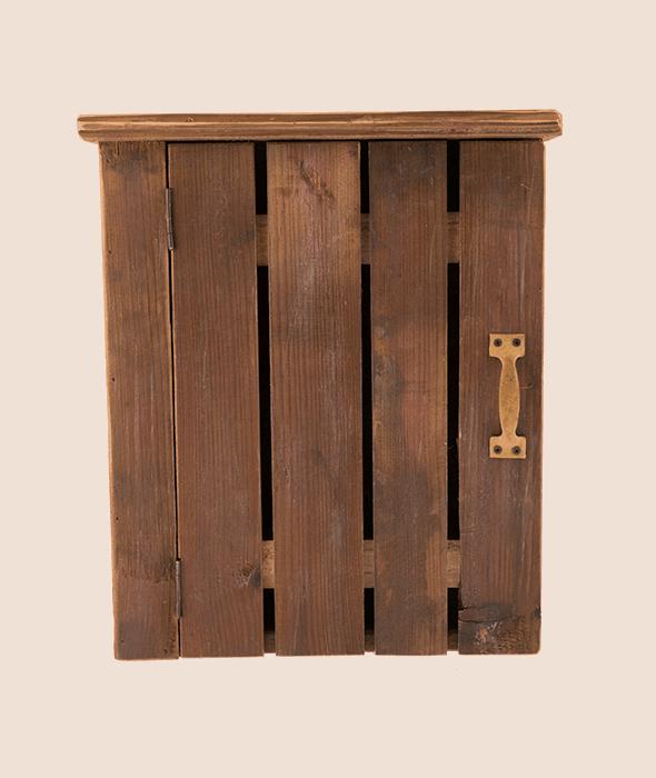 Portachiavi legno vintage 28x11x33 cm