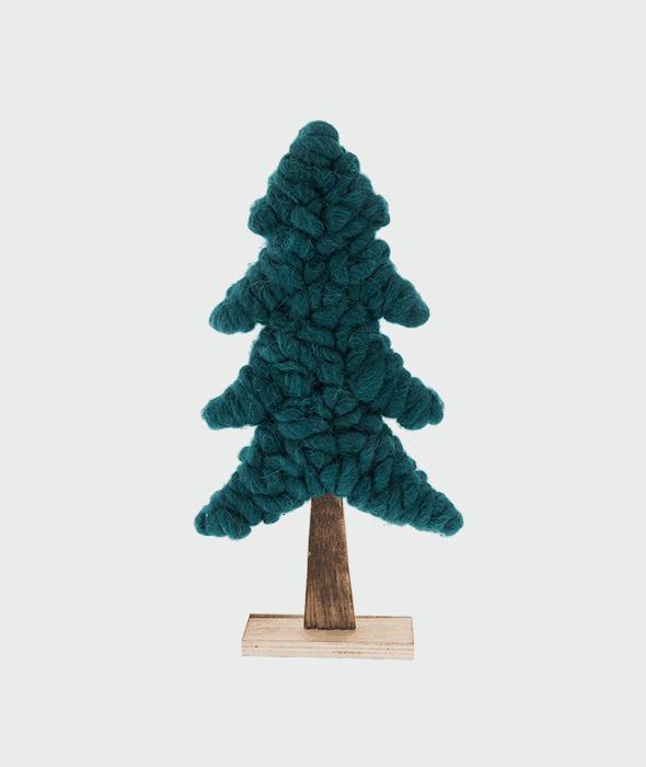 Pino legno-lana cotta verde scuro 36,5 cm