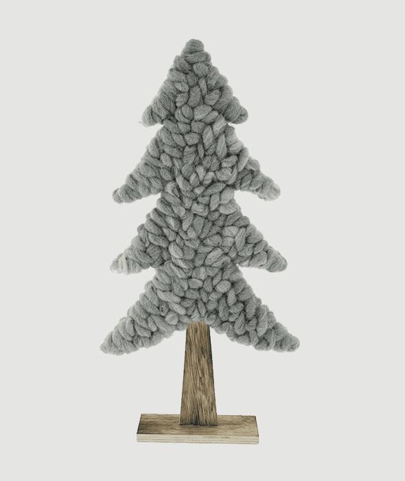 Pino legno-lana cotta verde chiaro 51 cm