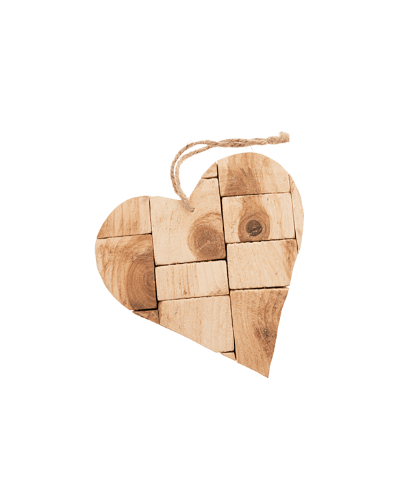 Pendente cuore legno 18×17 cm