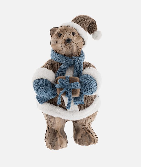 Orso corteccia vestito lana marrone 23×38 cm