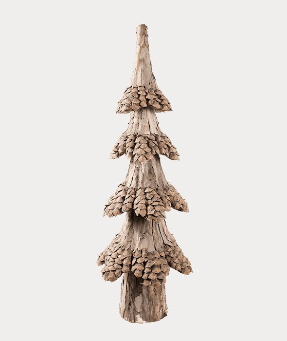 Albero corteccia/pigne 33x33x105 cm