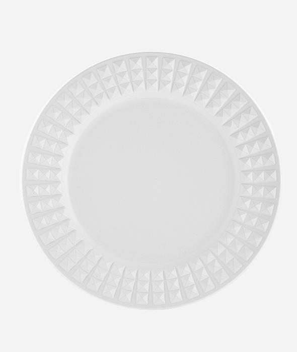 Sottopiatto plastica bianco bordo borchie d.33 cm