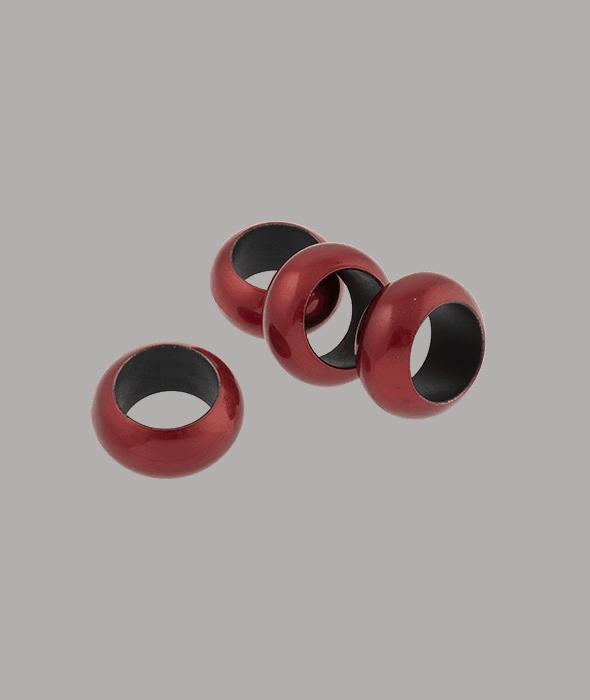 4 Legatovaglioli plastica rossa d.5,6 cm