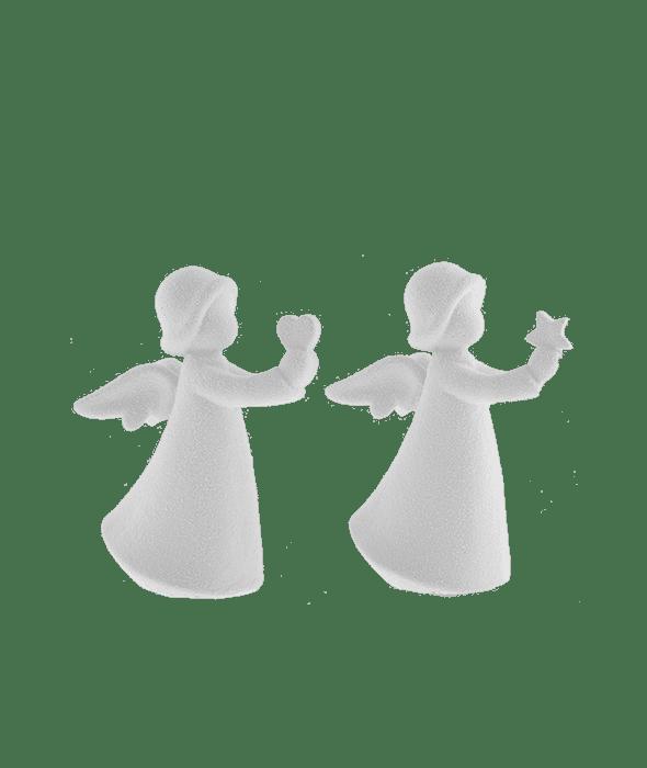 Angelo terracotta bianca assortito 14x8x17 cm