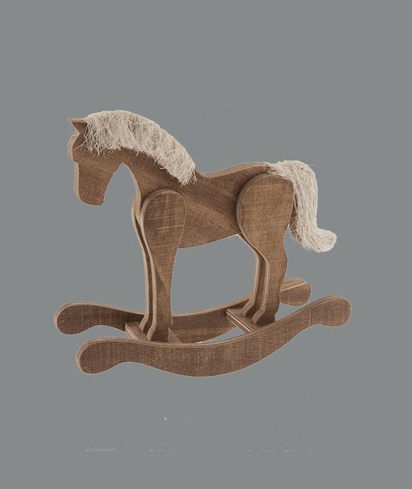 Cavallo a dondolo legno 19x6x18 cm