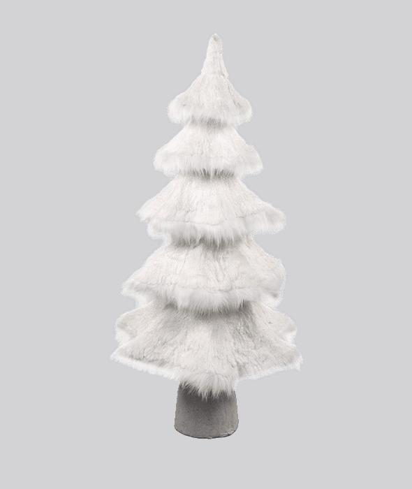 Albero bianco polistirolo effetto neve 50x47x103 cm