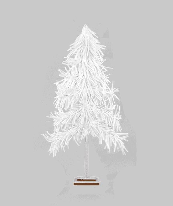 Albero bianco spugna 120 cm
