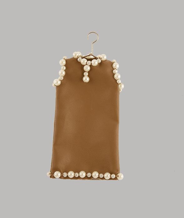 Pendente abito similpelle perle 14×17 cm