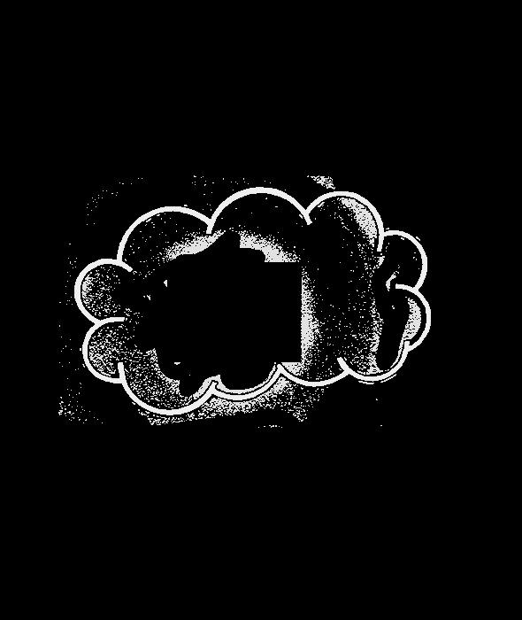 Sagoma d'appendere nuvola metallo bianco 50×30 cm