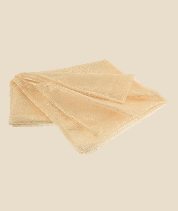 Tessuto glitterato avorio 140×250 cm