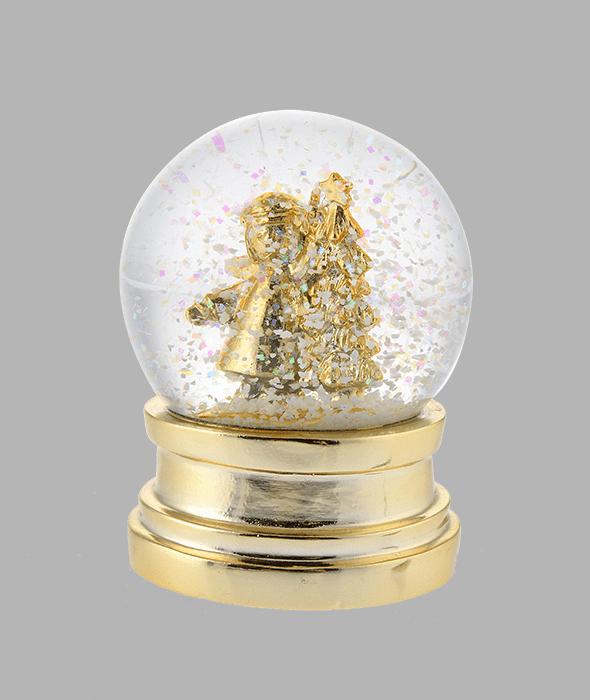 Boule de neige resina oro angioletto h.9 cm