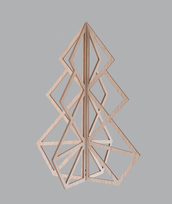 Pino legno ad incastri 62x62x80 cm