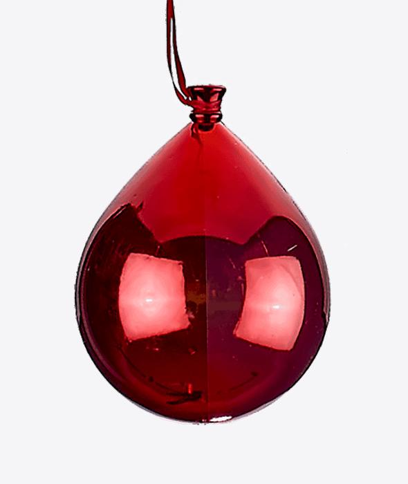 Pendente palloncino plastica rosso 15×18 cm
