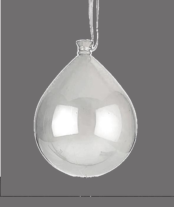 Pendente palloncino plastica bianco 15×18 cm