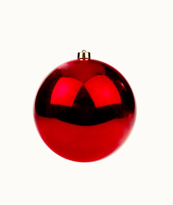 Palla di Natale plastica rossa d.20 cm