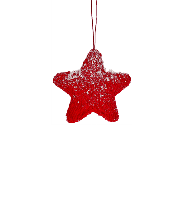 Stella polistirolo lana rossa  d.11 cm
