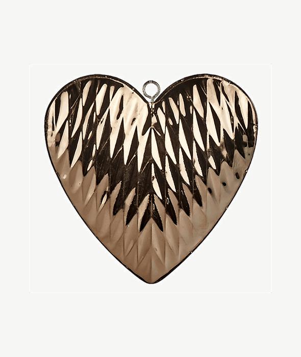Pendente cuore metallo copper d.14 cm