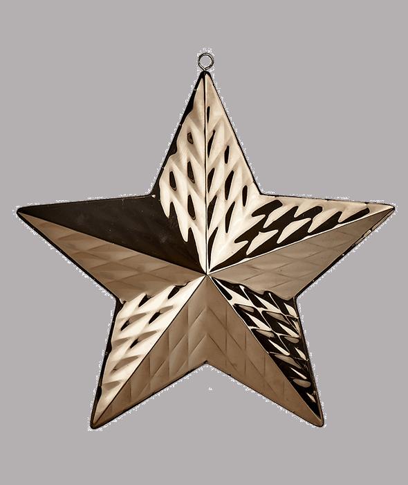Stella metallo copper d'appendere d.27 cm