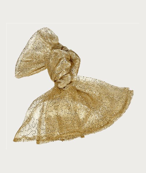 Tovaglia rete oro paillettes 120×240 cm