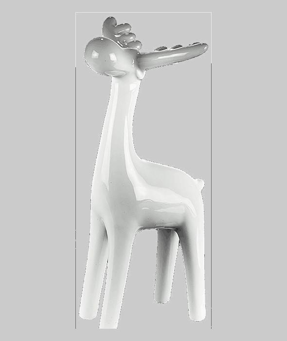 Renna ceramica bianca 21 cm