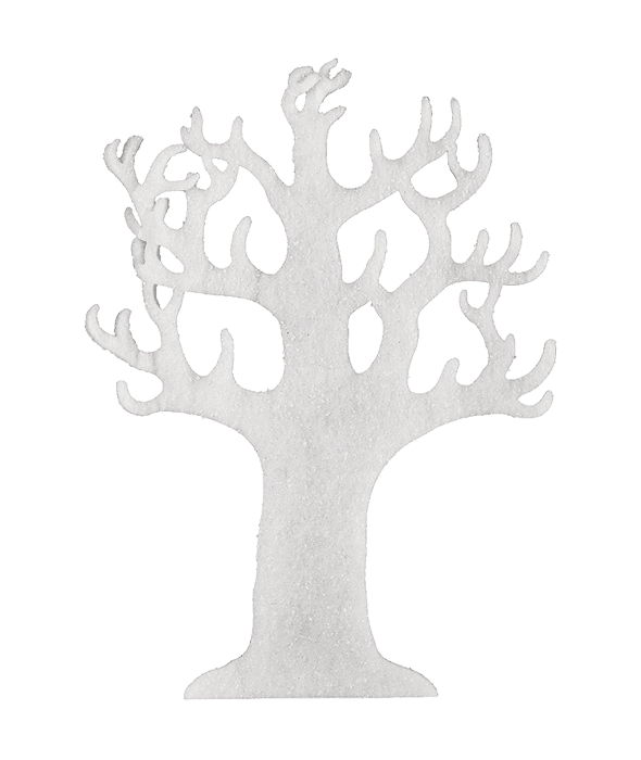 Albero ovatta bianca 76 cm