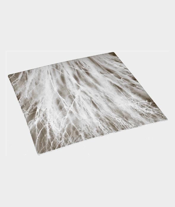 Piatto plastica quadrato bianco/oro 30 cm