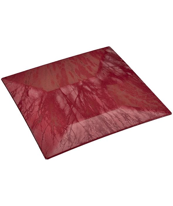 Sottopiatto plastica rosso effetto marmorizzato 30 cm