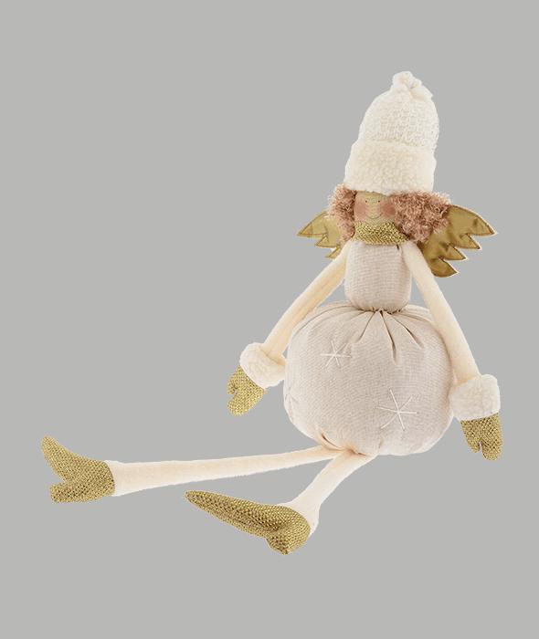 Angelo tessuto crema ali oro 15×50 cm