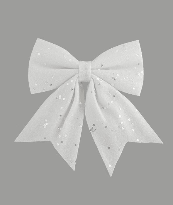Fiocco bianco spugna glitterato 31×35 cm