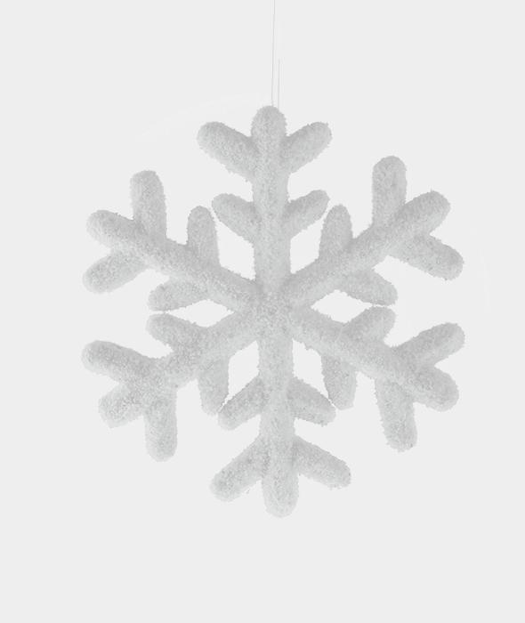 Pendente fiocco bianco polistirolo 25 cm
