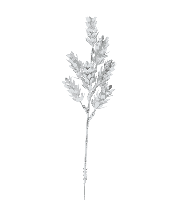 Rametto luppolo plastica argento 30 cm