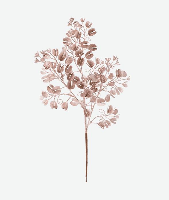 Ramo eucalipto plastica rosa 45 cm