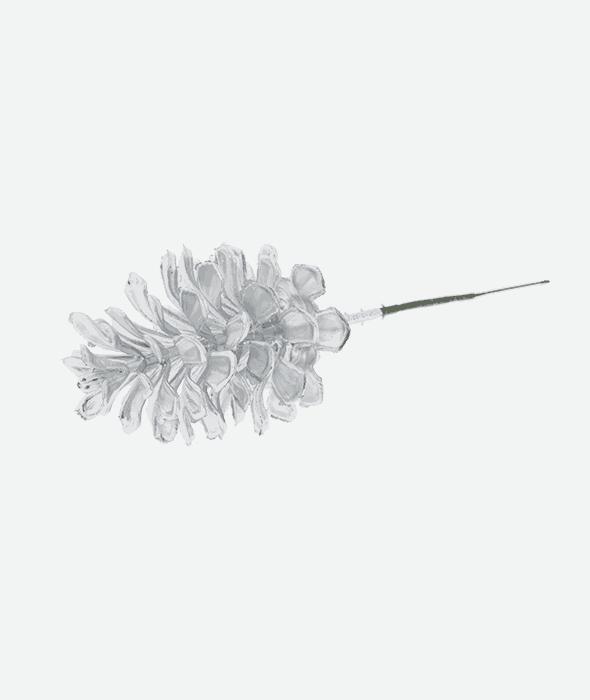 Pick pigna plastica argento 21 cm