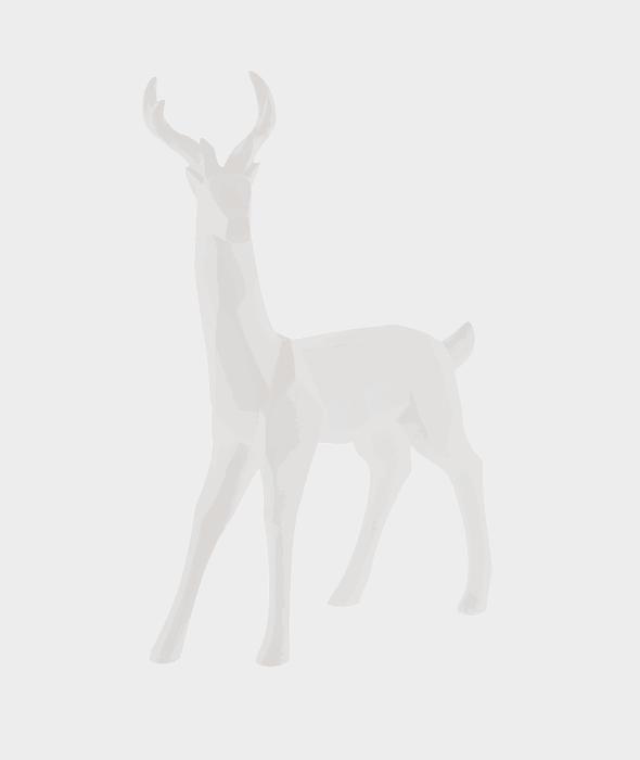 Renna resina bianca 24×38 cm