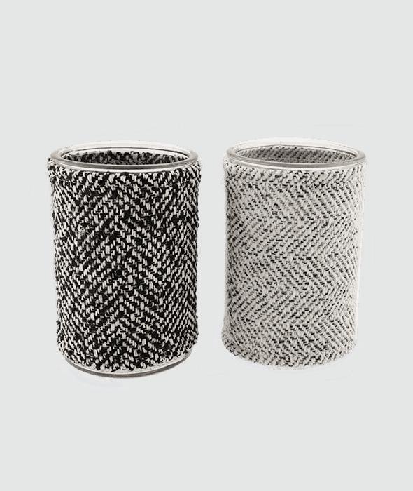 *Portacandela vetro tessuto melange 2 assortimenti 10×15 cm*