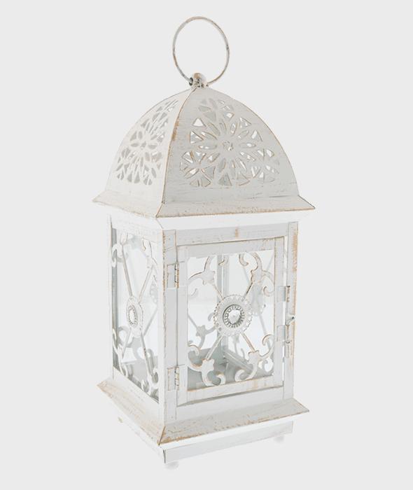 Lanterna metallo anticata 14x31cm