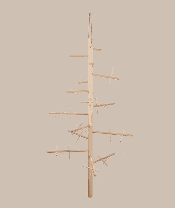 Espositore d'appendere legno componibile 66×120 cm