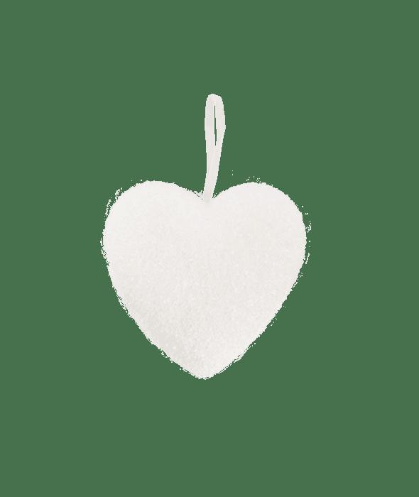 Cuore polistirolo glitter bianco 20 cm